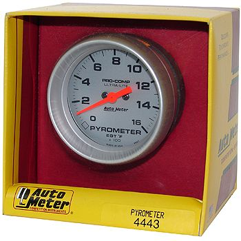 "Instrumento Medir Temperatura Gases Escape 0º - 1600º F - Elétrico -2 5/8"" - Ultra-Lite - AUTO METER  - PRO-1 Serious Performance"