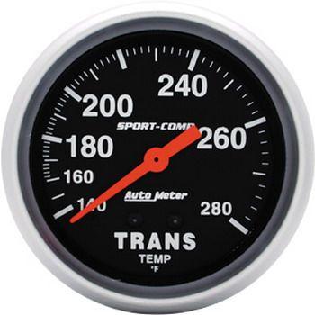 "Instrumento Medir Temperatura Transmissão 140º - 280º F - Mecânico - 2 5/8"" - Sport Comp - AUTO METER  - PRO-1 Serious Performance"