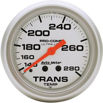 "Instrumento Medir Temperatura Transmissão 140º - 280º F - Mecânico - 2 5/8"" - Ultra-Lite - AUTO METER  - PRO-1 Serious Performance"