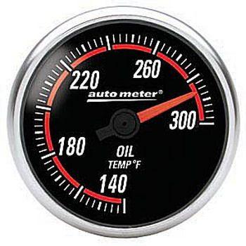 "Instrumento Temperatura de Óleo 140º - 300º F - Elétrico - 2"" 1/16"" - Imperial - Nexus - AUTO METER  - PRO-1 Serious Performance"