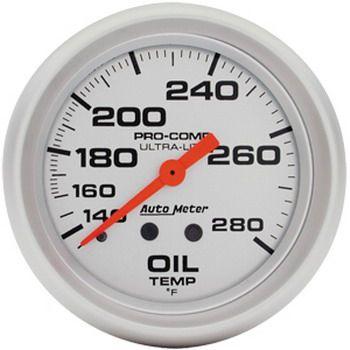 "Instrumento Temperatura de Óleo - Mecânico - 2"" 5/8"" - Imperial - Ultra-Lite  - AUTO METER  - PRO-1 Serious Performance"
