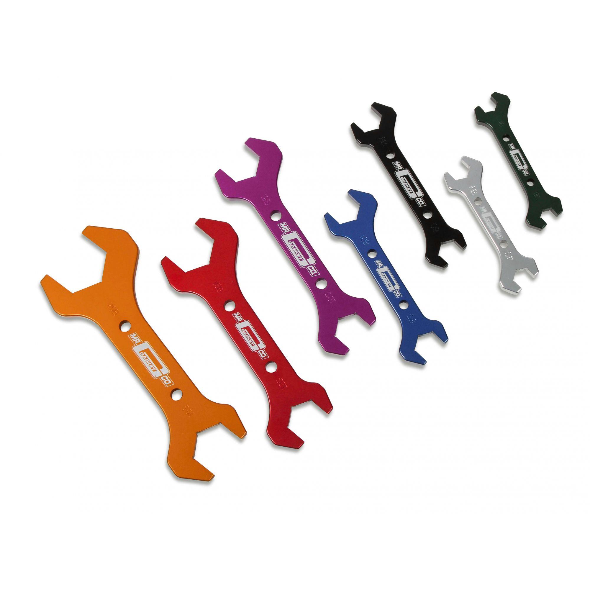 Jogo de chaves em alumínio para conexões AN - MR. Gasket  - PRO-1 Serious Performance