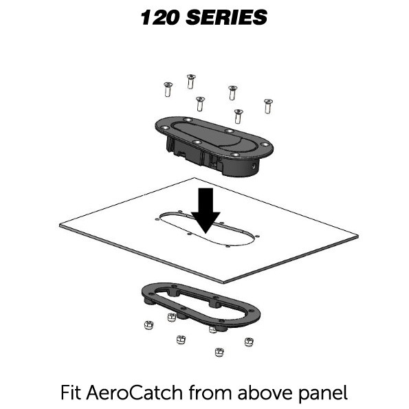 Kit de Travas para Capô - Sem Chave - AEROCATCH  - PRO-1 Serious Performance