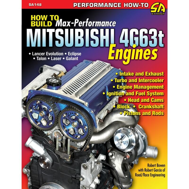 Livro How to Build Max Performance Mitsubishi 4G63T Engines - CAR TECH  - PRO-1 Serious Performance