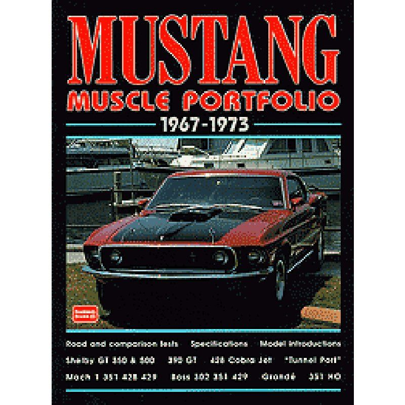 Livro Mustang Portfolio 1967-1973 - CAR TECH  - PRO-1 Serious Performance