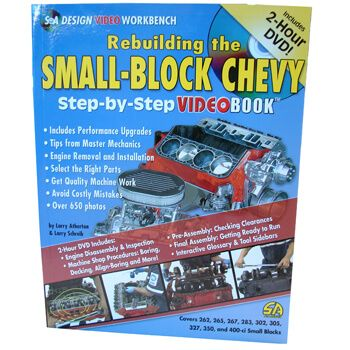 Livro Rebuild Small Block Chevy With 2 Hour DVD - CAR TECH  - PRO-1 Serious Performance