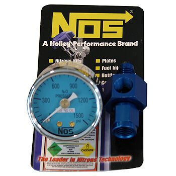 Manômetro de Pressão de Nitro para Cilindro com Adaptador 4AN - NOS - NOS  - PRO-1 Serious Performance