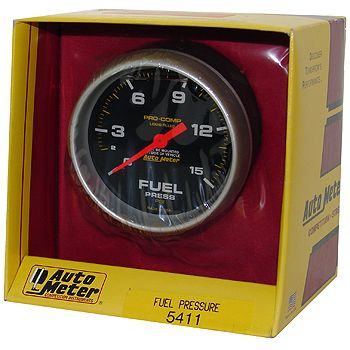 """Manômetro Pressão Combustível 0 - 15 PSI - Mecânico - 2"""" 5/8"""" - Pro-Comp com Líquido - AUTO METER  - PRO-1 Serious Performance"""