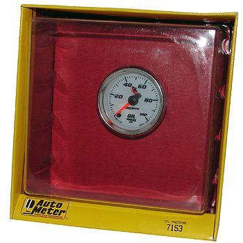 "Manômetro Pressão de Óleo 0 - 100 PSI - Elétrico - 2"" 1/16""- C2 - AUTO METER  - PRO-1 Serious Performance"
