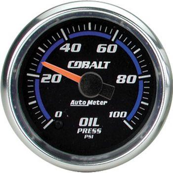 "Manômetro Pressão de Óleo 0 - 100 PSI - Elétrico - 2"" 1/16""- Cobalt - AUTO METER  - PRO-1 Serious Performance"