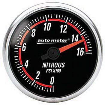 "Manômetro Pressão Nitro 0 - 1600 PSI - Elétrico - 2"" 1/16"" - Nexus - AUTO METER  - PRO-1 Serious Performance"