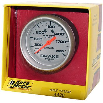 "Manômetro Pressão Óleo de Freio 0 - 2000 PSI - Mecânico - 2"" 5/8"" - Ultra-Lite - AUTO METER  - PRO-1 Serious Performance"