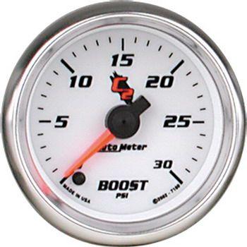 """Manômetro Pressão Turbo 0 - 30 PSI - Elétrico - 2"""" 1/16"""" - C2 - AUTO METER  - PRO-1 Serious Performance"""