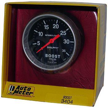 "Manômetro Pressão Turbo 0 - 35 PSI - Mecânico - 2 5/8"" - Sport Comp - AUTO METER  - PRO-1 Serious Performance"