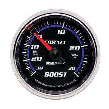 "Manômetro Pressão Turbo-Vácuo 0-30 PSI - Mecânico - 2"" 1/16"" - Cobalt - AUTO METER  - PRO-1 Serious Performance"