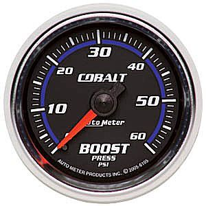 "Manômetro Pressão Turbo-Vácuo 0-60 PSI - Mecânico - 2"" 1/16"" - Cobalt - AUTO METER  - PRO-1 Serious Performance"