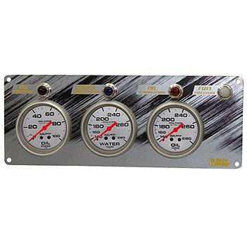 """Painel com 3 Instrumentos (Pressão de Óleo e Temperatura de Água e Óleo) com Alertas - Pro Comp Ultra Lite 2"""" 5/8""""  - AUTO METER  - PRO-1 Serious Performance"""