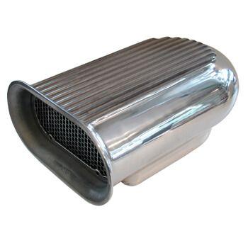 Scoop Aletado Polido para 1 Quadrijet - Alumínio - MR. GASKET  - PRO-1 Serious Performance