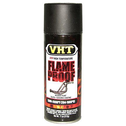 Tinta Spray a Prova de Chamas Preto Fosco 650°C a 1100°C - VHT  - PRO-1 Serious Performance