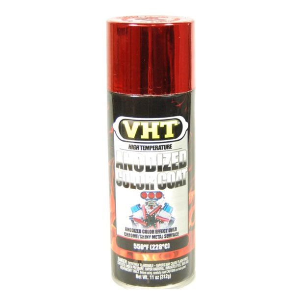 Tinta Spray Anodizado Vermelho 228°C - VHT  - PRO-1 Serious Performance