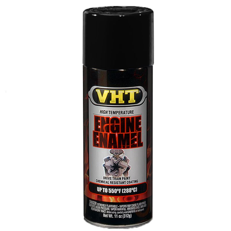 Tinta Spray Para Motor Preto Brilhante 288°C - VHT  - PRO-1 Serious Performance
