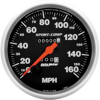 "Velocimetro 160 Mph - Mecânico - 5"" - Sport Comp - AUTO METER  - PRO-1 Serious Performance"