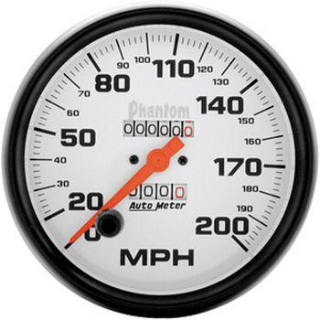 """Velocímetro 200 MPH - Mecânico - 5"""" - Phantom - AUTO METER  - PRO-1 Serious Performance"""