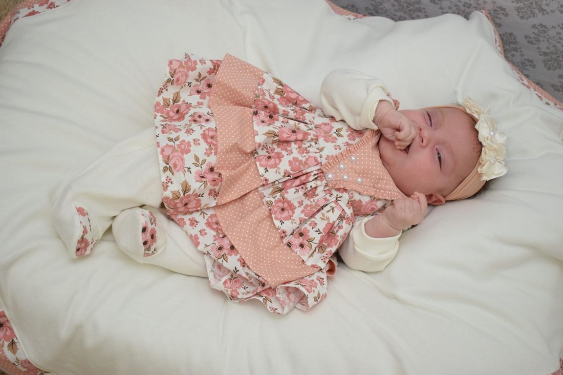 Saída Maternidade Menina Anny 5 Peças - Imperial Baby 44db0f65ad7