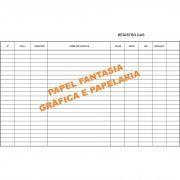 Livro Registro Anestesia 100 Folhas (Papelfantasia)