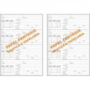 Livro  Registro de Receitas Óticas 200 folhas (Papelfantasia)