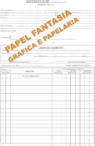 Livro Registro Matricula De Cooperativa 500 Folhas ( Papelfantasia)