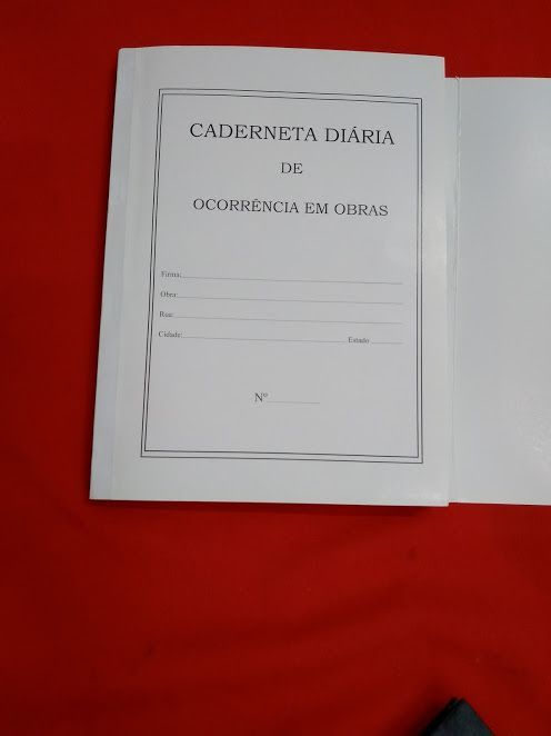 5 Livro Caderneta Diário de Obras 25 x 3 vias