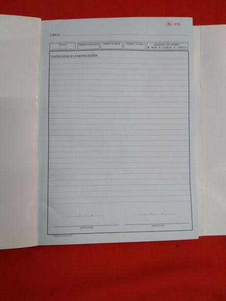 5 Livro Caderneta Diário de Obras 50 x 4 vias