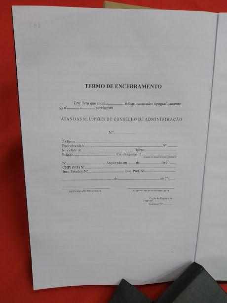 Livro de Atas das Reuniões do Conselho de Administração  100 folhas (Papelfantasia)