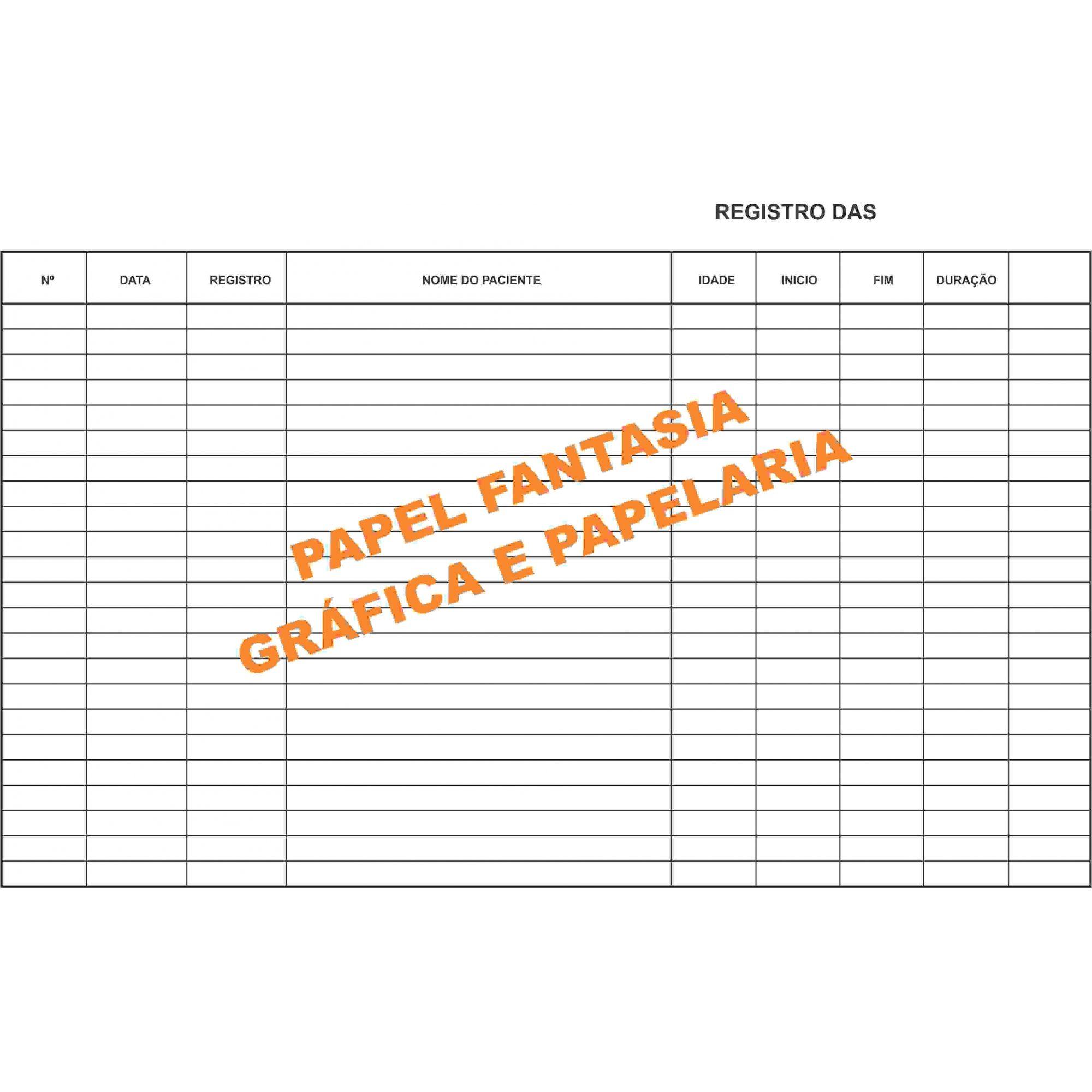 Livro Registro Anestesia 100 Folhas