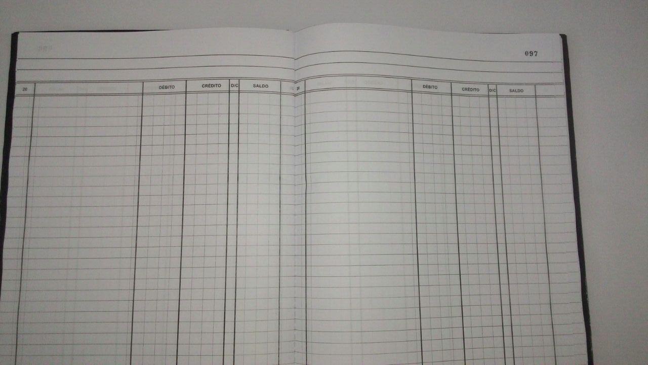 Livro de Registro Bancário Conta corrente 100 Folhas (Papelfantasia)