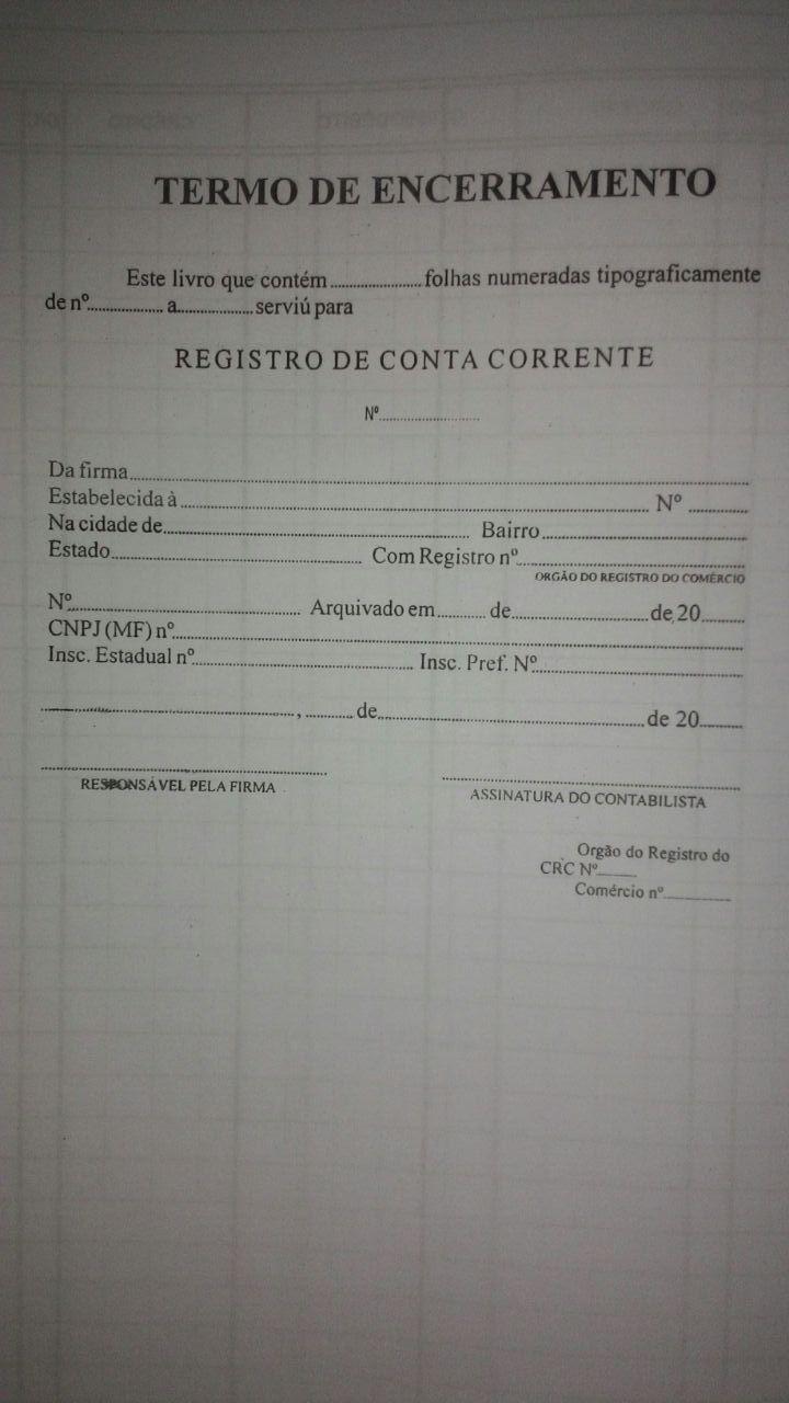 Livro de Registro Bancário Conta Corrente 200 Folhas (Papelfantasia)