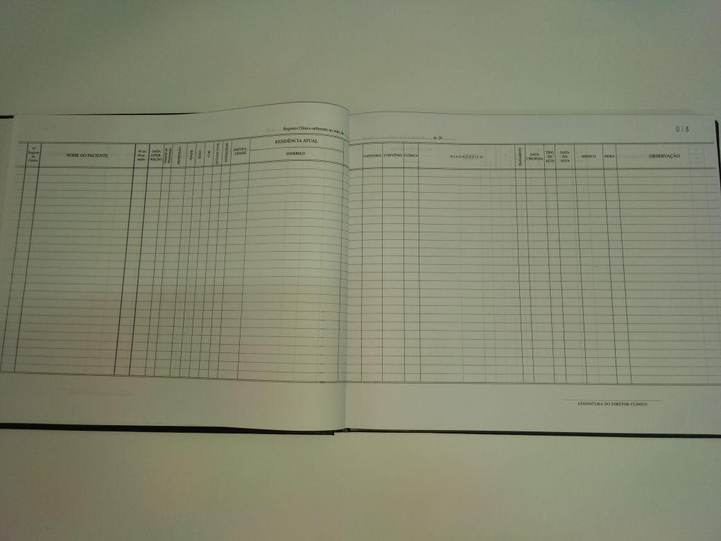 Livro de Registro Clínico 200 Folhas (Papelfantasia)
