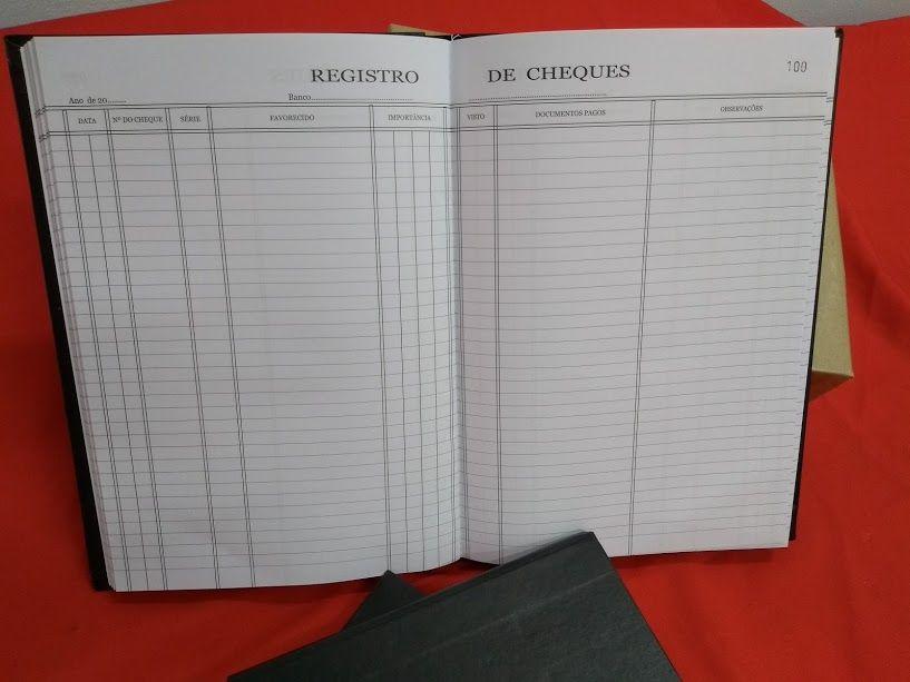 Livro de Registro de cheque 100 Folhas