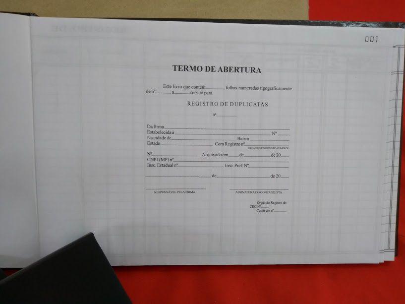 Livro de Registro de Duplicatas 100 Folhas (Papelfantasia)