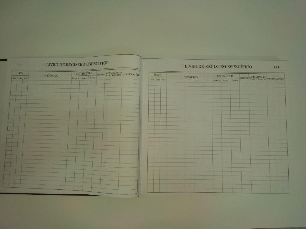 Livro de Registro Específico- Psicotrópicos 300 Folhas (Papelfantasia)