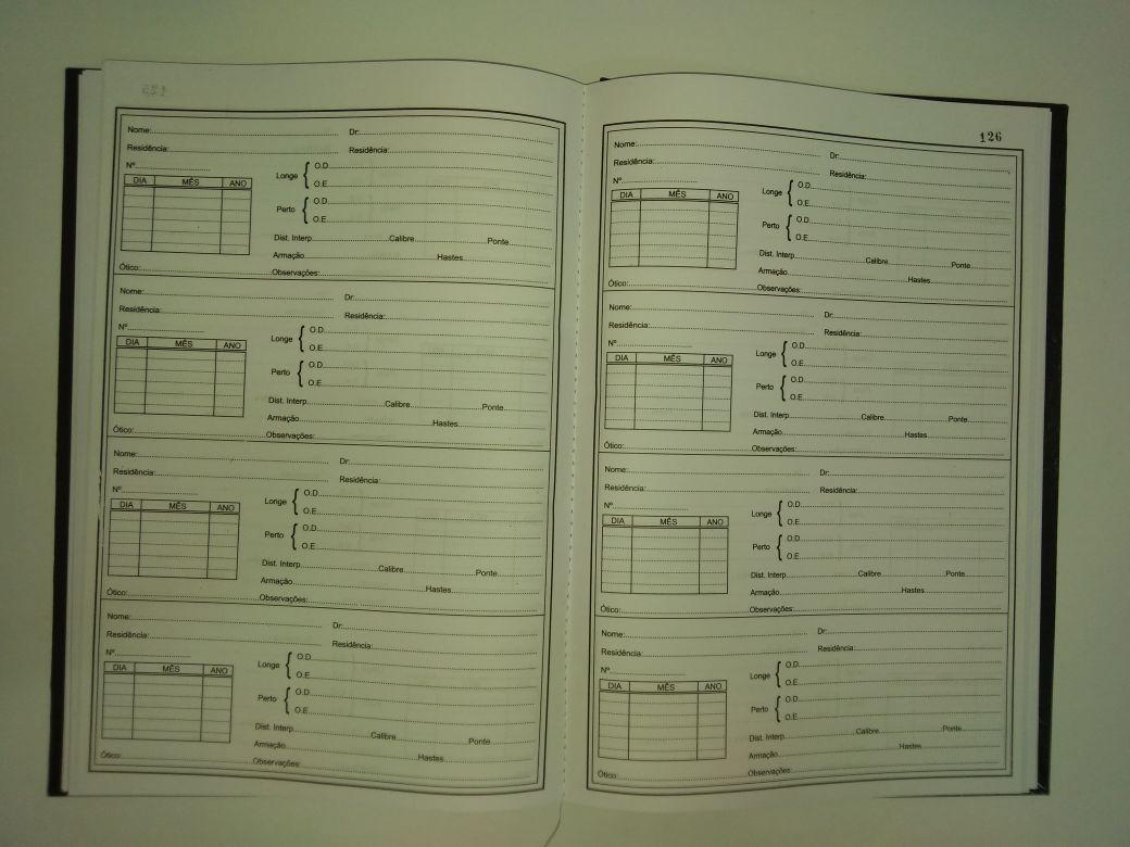 Livro  Reg. de  Receitas Óticas 200 folhas (Papelfantasia)