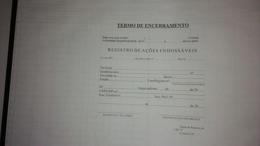 Livro Registro de Ações Endossáveis 50 Folhas (Papelfantasia)