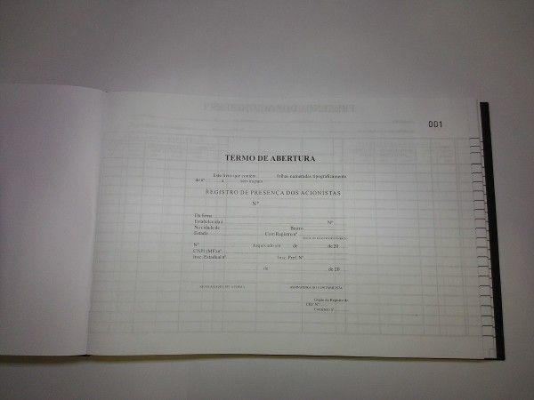 Livro Registro de Presença dos Acionistas 100 Folhas