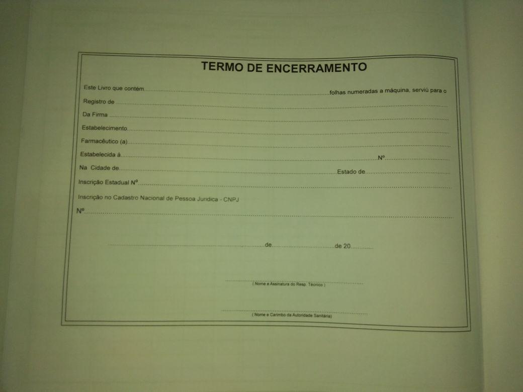 Livro  Registro Especial  Farmacia  com 100 folhas