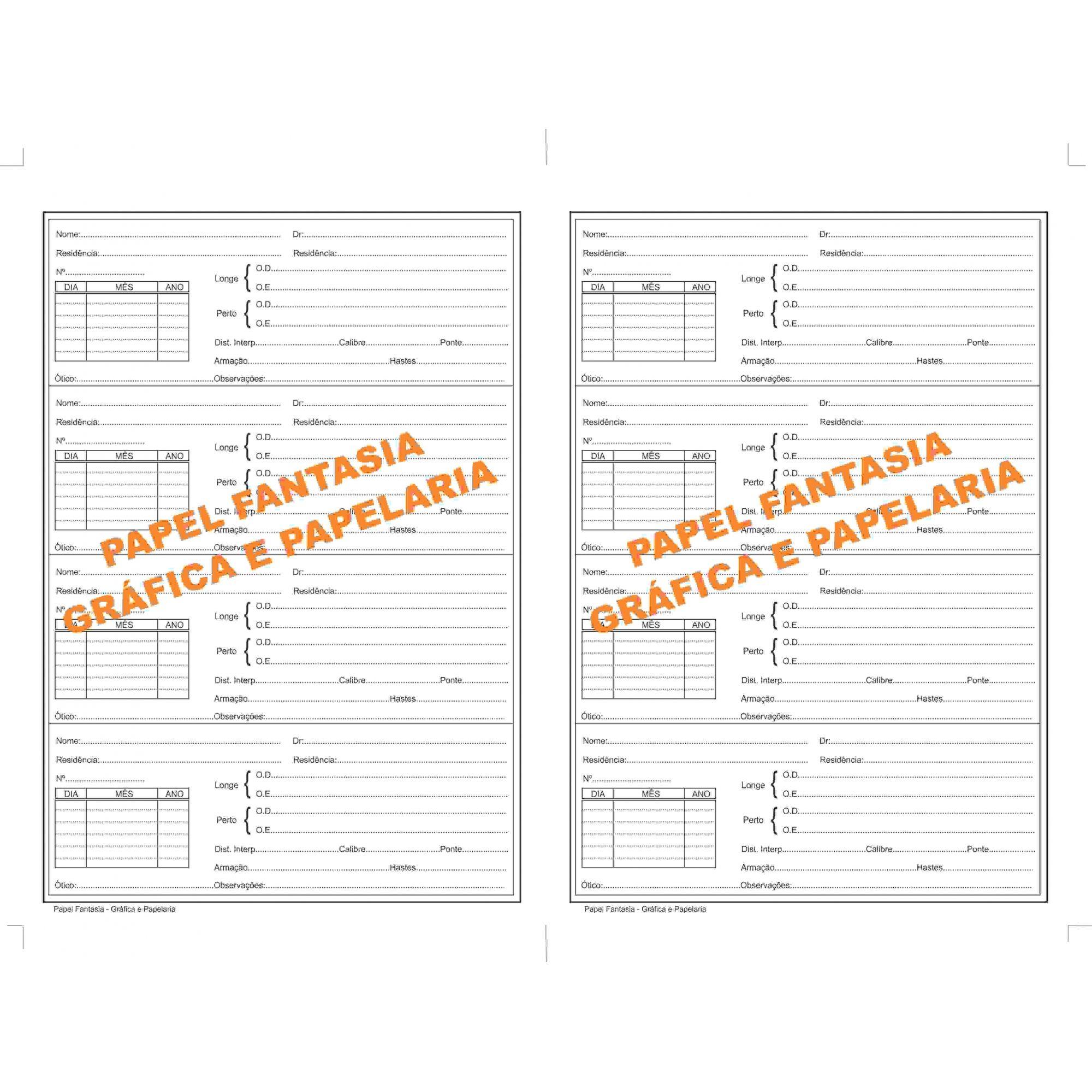 Livro Registro  Óticas 200 Folhas (Papelfantasia)