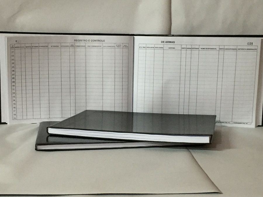 Livro Registro de  Armas 100 Folhas