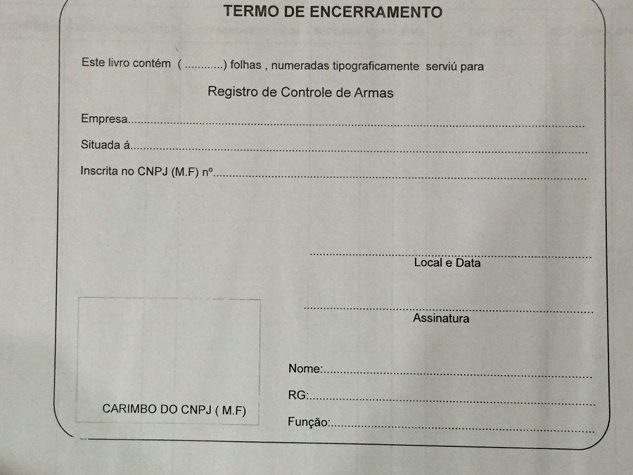 Livro Registro de  Armas 100 Folhas (Papelfantasia)