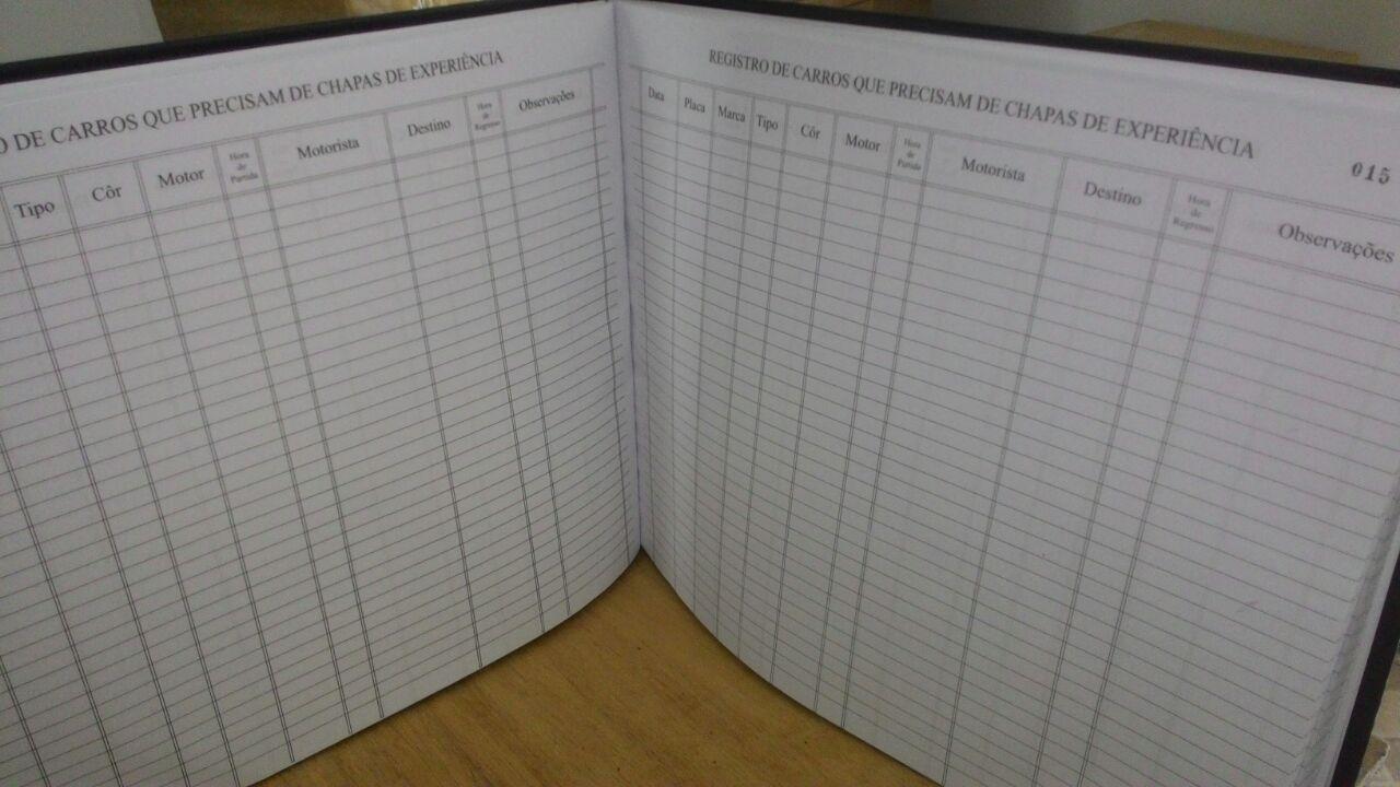 Livro Registro Chapa de Experiência  Modelo 14 Com 100 Folhas
