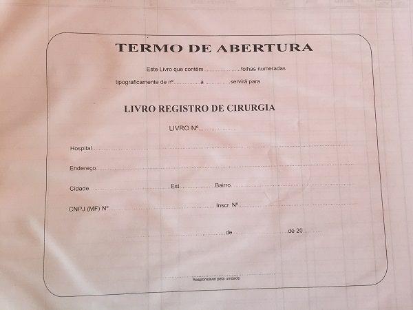 Livro Registro de Cirurgia 200 Folhas (Papelfantasia)